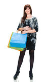 Pretty woman with shopping bags Royalty Free Stock Photo