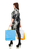 Pretty woman with shopping bags Stock Photo