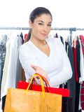 Pretty Woman Shopping at the Department Store Royalty Free Stock Photos