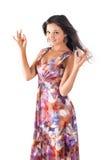 Pretty woman shows ok gesture Stock Photos