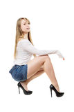 Pretty woman sitting Stock Photo