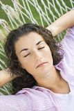 Pretty woman sleeping. Royalty Free Stock Photo