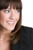 Pretty Woman Smiling. Pretty beautiful business woman smiling Royalty Free Stock Images