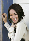 Pretty woman smiling Stock Photos