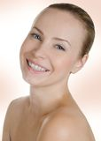 Pretty woman smiling Stock Image