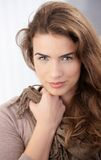 Pretty woman smiling at home Royalty Free Stock Photo