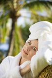 Pretty woman at spa. royalty free stock photo