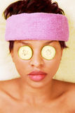 Pretty woman in spa facial treatment Royalty Free Stock Photography