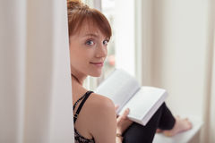 Pretty woman spending a relaxing day at home Royalty Free Stock Photography