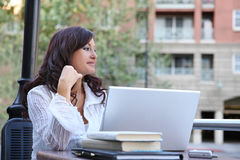 Pretty Woman Studying Royalty Free Stock Photography