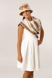 Pretty woman in summer dress Stock Photo