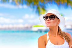 Pretty woman on summer holidays Stock Photo