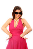 Pretty woman with sunglasses Royalty Free Stock Image