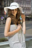 Pretty woman in sunny summer day Royalty Free Stock Photo