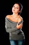 Pretty woman in sweater Stock Photo