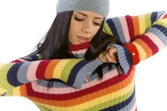 Pretty woman in sweater Stock Photo