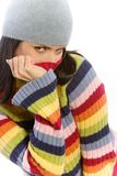 Pretty woman in sweater Stock Photography
