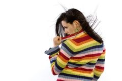 Pretty woman in sweater Stock Image