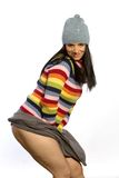 Pretty woman in sweater Royalty Free Stock Photos