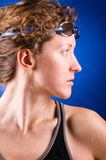 Pretty woman swimmer Stock Photography