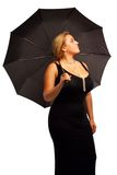 Pretty woman with umbrella Royalty Free Stock Photos