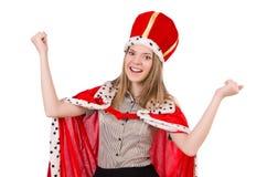 Pretty woman wearing crown Stock Photo