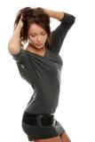Pretty  woman wearing dress Royalty Free Stock Photo