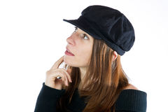 Pretty woman wearing an hat Royalty Free Stock Image