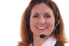 Pretty woman wearing headset Stock Photos