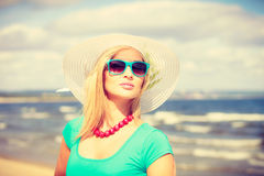 Pretty woman wearing nice clothing. Royalty Free Stock Image