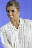 Pretty woman wearing a white shirt. Royalty Free Stock Photos