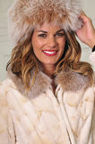 Pretty woman wearing winter fashion Royalty Free Stock Photography