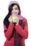 Pretty woman wearing winter jacket 2 Royalty Free Stock Photos