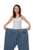 Pretty Woman Weight Loss Royalty Free Stock Photo