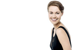 Pretty woman with welcoming smile Royalty Free Stock Photography