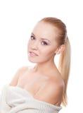 Pretty woman on white Royalty Free Stock Image