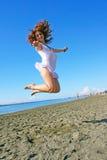 Woman on beach royalty free stock image