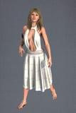 Pretty woman in a white dress Stock Photos