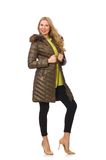 Pretty woman in winter clothing isolated on the Royalty Free Stock Image