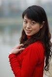 Pretty women. A pretty women in red royalty free stock photos