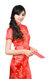 Pretty women with cheongsam Royalty Free Stock Photo