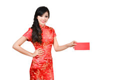 Pretty women with cheongsam Royalty Free Stock Photos