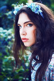 Pretty women in the garden Royalty Free Stock Images