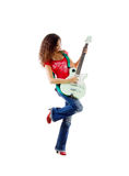 Pretty women with her electric guitar Stock Photo
