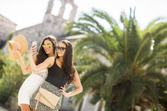 Pretty women outdoor in summer Royalty Free Stock Photo