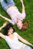 Pretty women rest royalty free stock images
