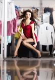 Pretty women shopping Stock Image