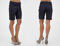 Pretty women in shorts Stock Images