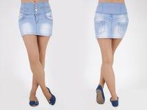 Pretty women in skirt Stock Image