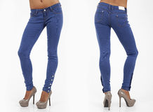 Pretty women in tight jeans Royalty Free Stock Images